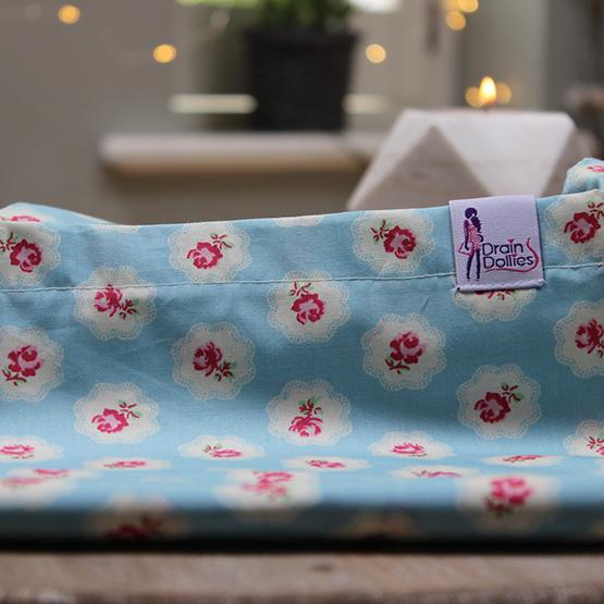 Flower Power Print Drain Dolly Bag