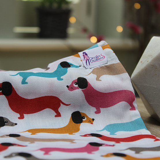 Sausage Dogs Print Drain Dolly Bag